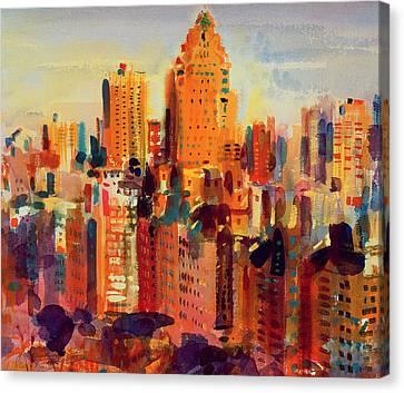 Upper Manhattan Canvas Print by Peter Graham