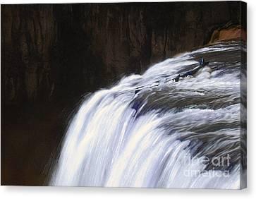 Upper Mesa Falls Canvas Print by Dennis Hammer