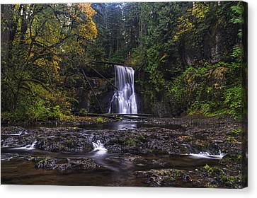 Upper North Falls Canvas Print by Mark Kiver