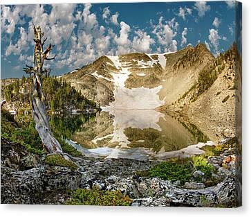 Upper Skytop Lake Canvas Print by Leland D Howard