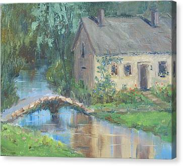 Upper Slaughter - England Canvas Print by Elaine Monnig