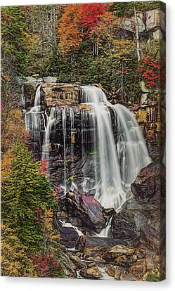 Upper Whitewater Falls North Carolina Canvas Print by Bellesouth Studio
