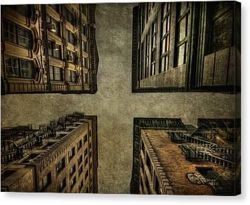 City Streets Canvas Print - Uprising by Evelina Kremsdorf