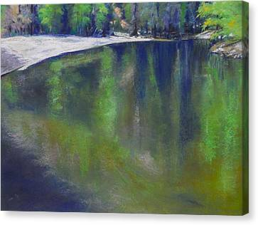 Upriver View Canvas Print