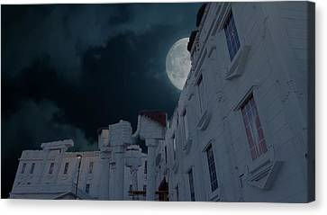 Whitehouse Canvas Print - Upside Down White House At Night by Art Spectrum
