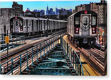Uptown And Downtown Canvas Print by June Marie Sobrito