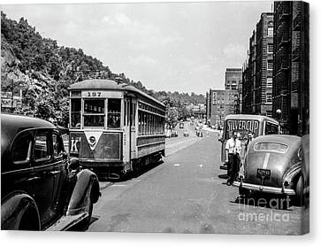 Canvas Print featuring the photograph Uptown Trolley Near 193rd Street by Cole Thompson