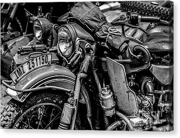 Canvas Print featuring the photograph Ural Patrol Bike by Anthony Citro