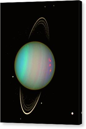Uranus Canvas Print by Nasaesastscie.karkoschka, U.arizona