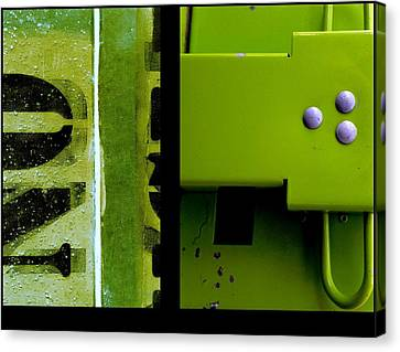 Urban Abstracts Seeing Double 40 Canvas Print by Marlene Burns