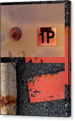 Urban Abstracts Seeing Double 55 Canvas Print by Marlene Burns