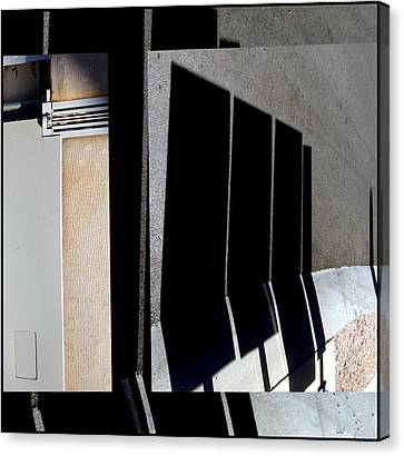 Urban Abstracts Seeing Double 64 Canvas Print by Marlene Burns