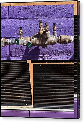 Urban Abstracts Seeing Double 79 Canvas Print by Marlene Burns