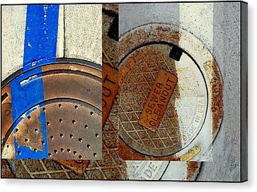 Urban Abstracts Seeing Double 84 Canvas Print by Marlene Burns