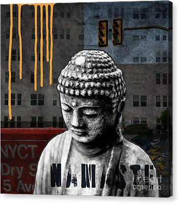 Urban Buddha  Canvas Print by Linda Woods