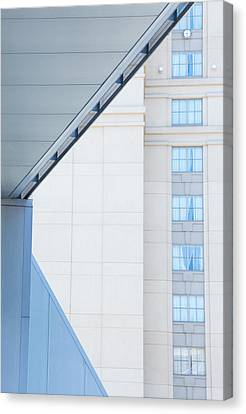 Urban Building Abstract Canvas Print by Karol Livote