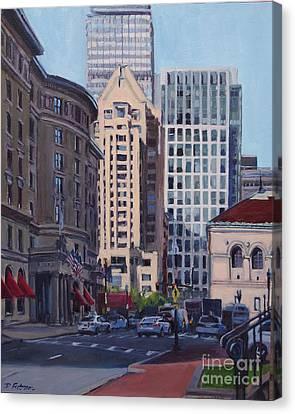Urban Canyon - Saint James Street, Boston Canvas Print
