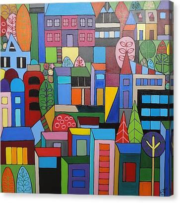 Urban Cityscape 1 Canvas Print