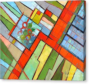 Grid Canvas Print - Urban Composition - Abstract Zoning Plan by Mona Edulesco