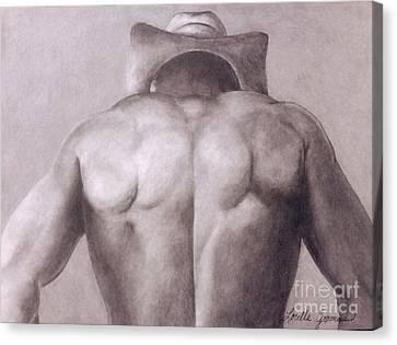 Urban Cowboy Canvas Print by Lorelle Gromus