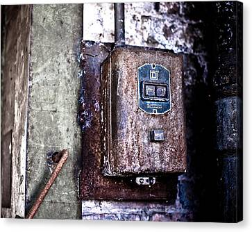 Urban Decay  Start And Stop Box Canvas Print by Edward Myers