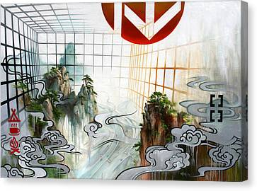 Canvas Print featuring the painting Urban Exposure by Dave Platford