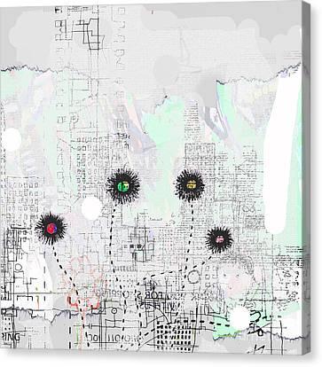 Urban Garden 2 Canvas Print by Andy  Mercer