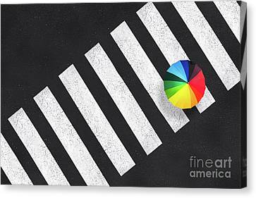Crosswalk Canvas Print - Urban Graphism by Delphimages Photo Creations