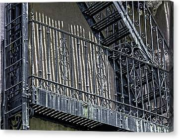 Antique Ironwork Canvas Print - Urban Iron by HH Photography of Florida