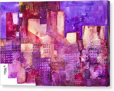 Urban Landscape 4 Canvas Print by Alessandro Andreuccetti