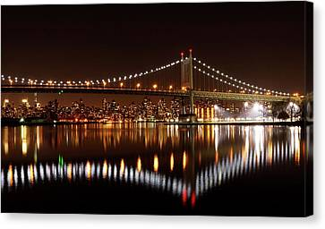 Urban Night Reflection Canvas Print