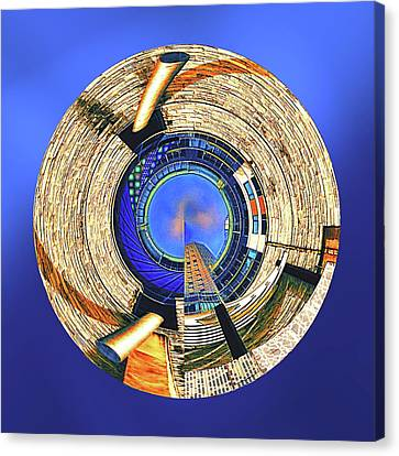 Canvas Print featuring the digital art Urban Order by Wendy J St Christopher