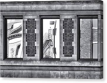 Urban Reflection Triptych Canvas Print