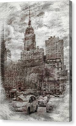 Urban Rush Canvas Print by Az Jackson