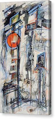Canvas Print featuring the painting Urban Street 1 by Mary Schiros