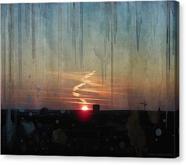 Urban Sunrise Canvas Print by Ivana Westin