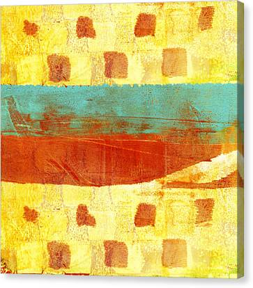 Urban Sunset Number 1 Of 4 Canvas Print by Carol Leigh