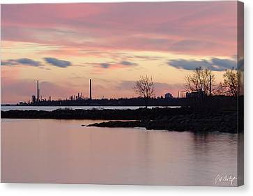 Port Credit Canvas Print - Urban Sunset by Phill Doherty