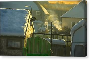 Urban Winter Landscape Uk Canvas Print by Aleck Rich Seddon