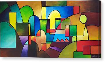Urbanity 2 Canvas Print by Sally Trace