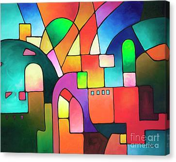 Urbanity Canvas Print by Sally Trace