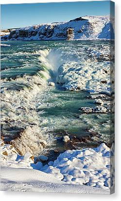 Urridafoss Waterfall Iceland Canvas Print by Matthias Hauser