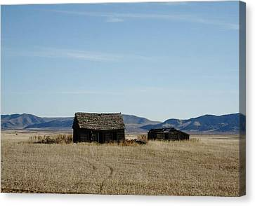 Robert Morrissey Canvas Print - Us 30 Idaho Cabin Revisited by Robert Morrissey