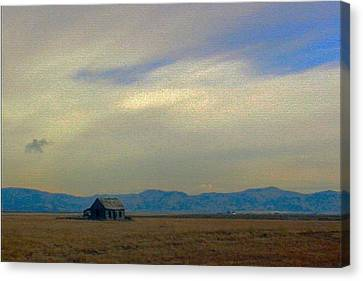 Robert Morrissey Canvas Print - Us 30 Idaho by Robert Morrissey