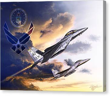 Jet Star Canvas Print - Us Air Force by Kurt Miller