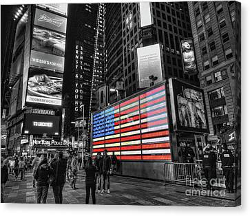 U.s. Armed Forces Times Square Recruiting Station Canvas Print by Jeff Breiman