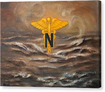 U.s. Army Nurse Corps Desert Storm Canvas Print by Marlyn Boyd