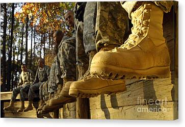 U.s. Army Soldiers Prepare For Basic Canvas Print by Stocktrek Images