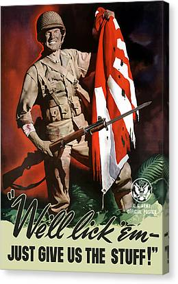Us Army -- World War Two Propaganda Canvas Print by War Is Hell Store