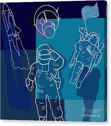 Us Astronauts Canvas Print by Bedros Awak